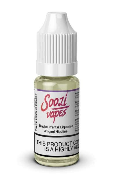 Blackcurrant & Liquorice Regular 10ml by Soozi Vapes