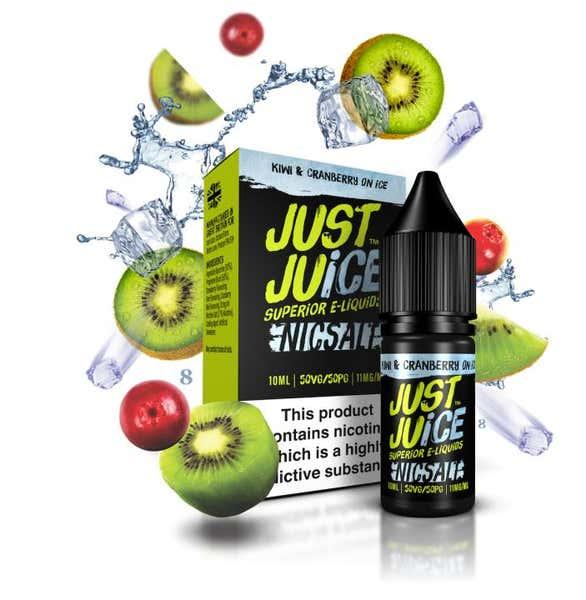 Kiwi & Cranberry On Ice Nicotine Salt by Just Juice