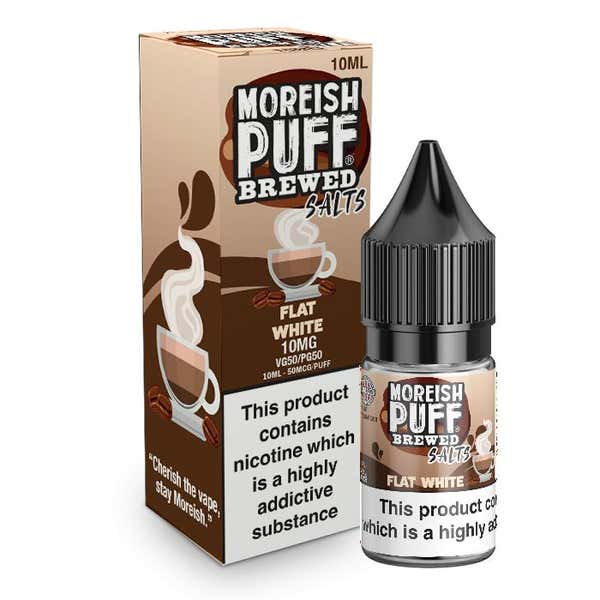 Flat White Nicotine Salt by Moreish Puff