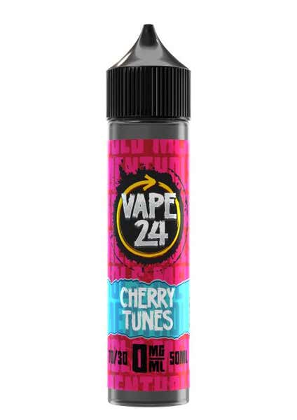 Cherry Tunes Menthol Shortfill by Vape 24