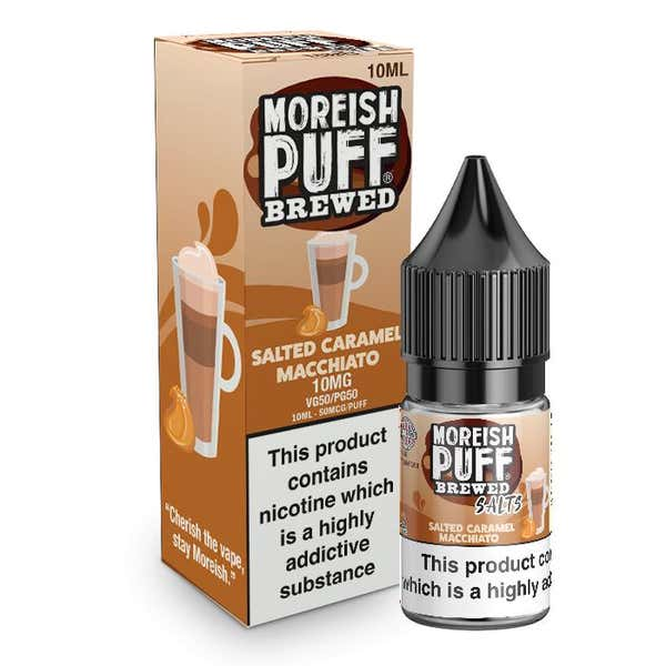 Salted Caramel Macchiato Nicotine Salt by Moreish Puff