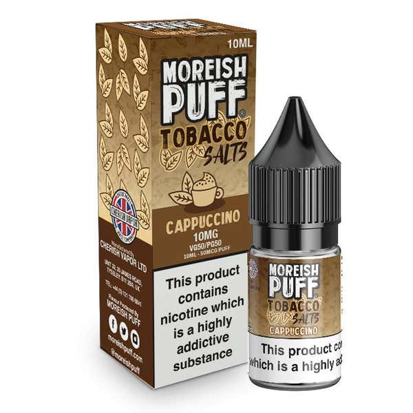 Cappuccino Tobacco Nicotine Salt by Moreish Puff