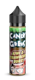 Candy Geeks Kiwi & Strawberry Burst Shortfill