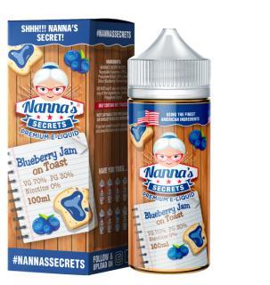 Nannas Secrets Blueberry Jam On Toast Shortfill