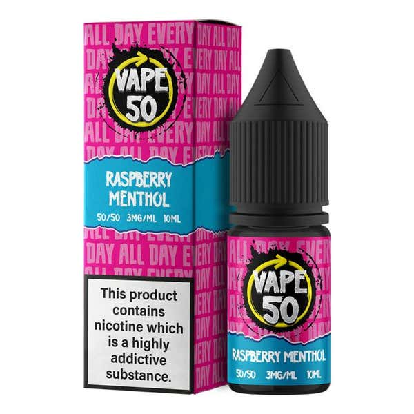 Raspberry Menthol Regular 10ml by Vape 50