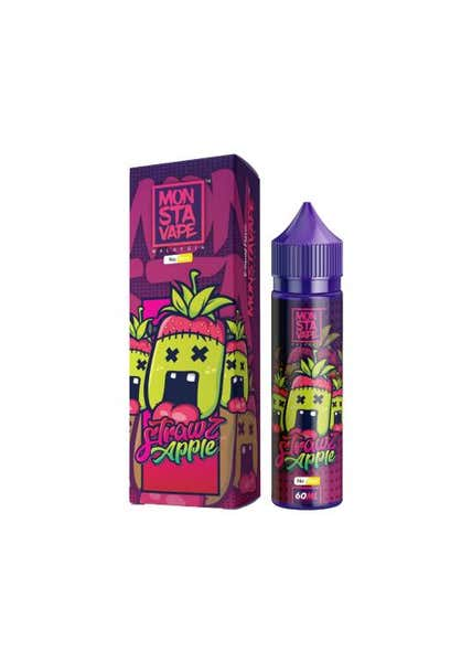 Strawz Apple No Mint Shortfill by Monsta Vape