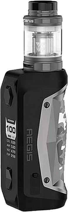 GunmetalAlloy, Leather & Silicone Aegis Solo Vape Device by GeekVape