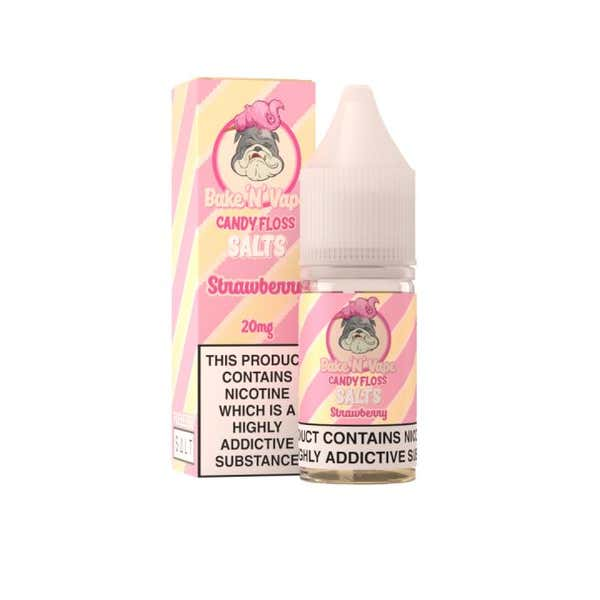 Strawberry Candy Floss Nicotine Salt by BakeNVape