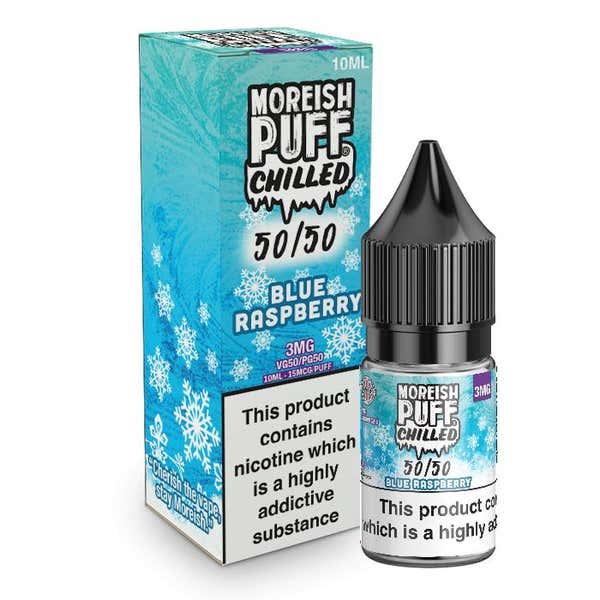 Blue Raspberry Chilled Regular 10ml by Moreish Puff