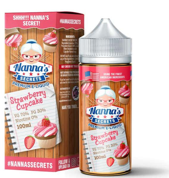 Strawberry Cupcake Shortfill by Nannas Secrets