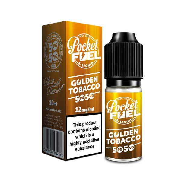 Golden Tobacco Regular 10ml by Pocket Fuel