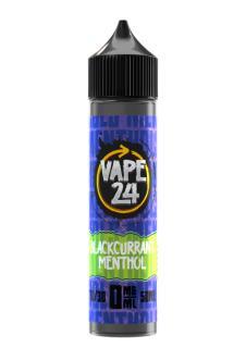 Vape 24 Blackurrant Menthol Shortfill