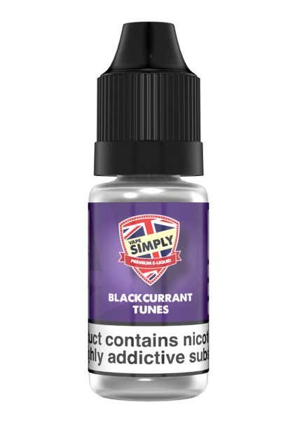Blackcurrant Tunes Regular 10ml by Vape Simply