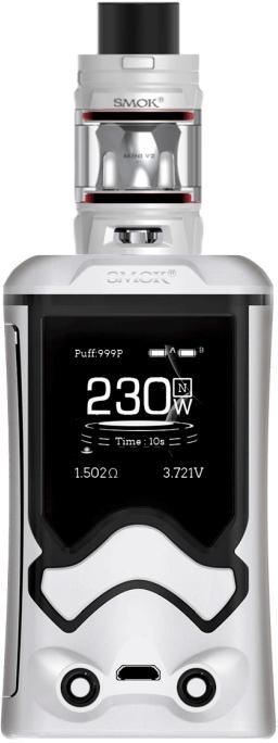 White & BlackZinc Alloy T Storm Vape Device by SMOK