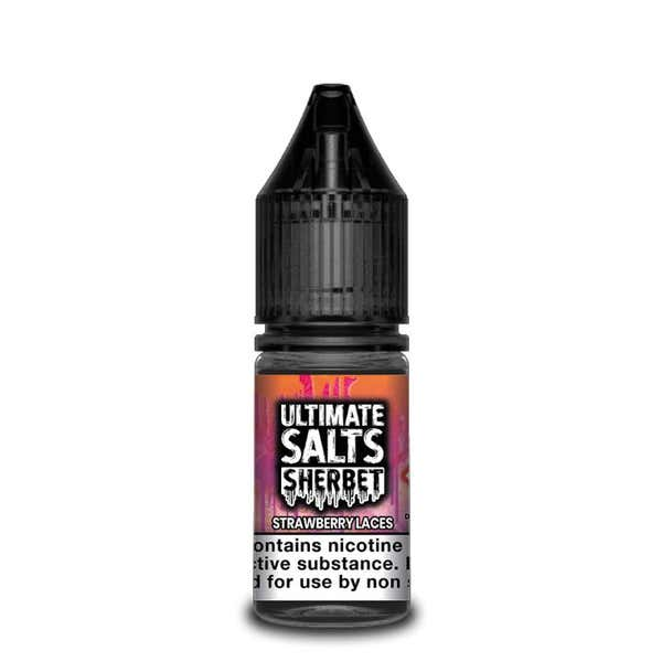 Sherbet Strawberry Laces Nicotine Salt by Ultimate Puff