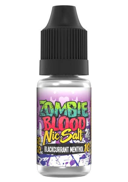 Blackcurrant Menthol Nicotine Salt by Zombie Blood