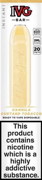 Vanilla Custard Tobacco Disposable by IVG