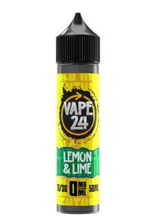 Vape 24 Lemon & Lime Menthol Shortfill