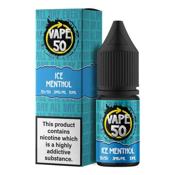 Ice Menthol Regular 10ml by Vape 50