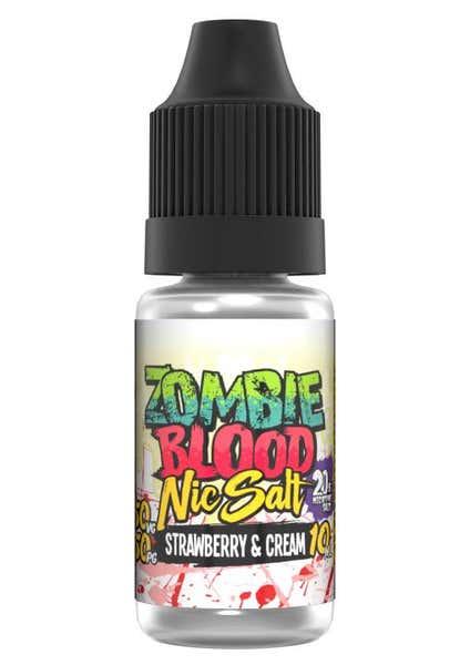 Strawberry & Cream Nicotine Salt by Zombie Blood