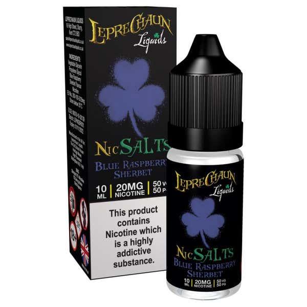 Blue Raspberry Sherbet Nicotine Salt by Leprechaun