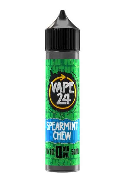 Spearmint Chews Menthol Shortfill by Vape 24
