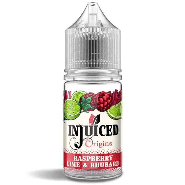 Raspberry, Lime & Rhubarb Shortfill by Injuiced Origins