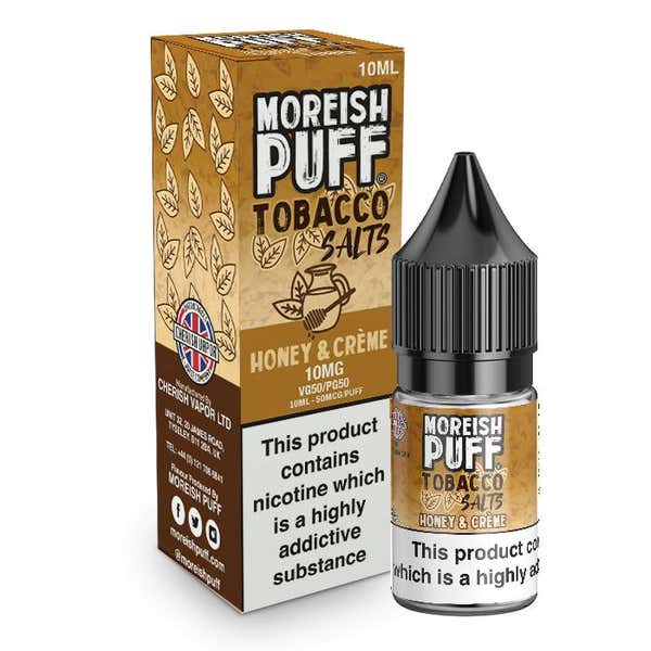 Honey & Creme Tobacco Nicotine Salt by Moreish Puff